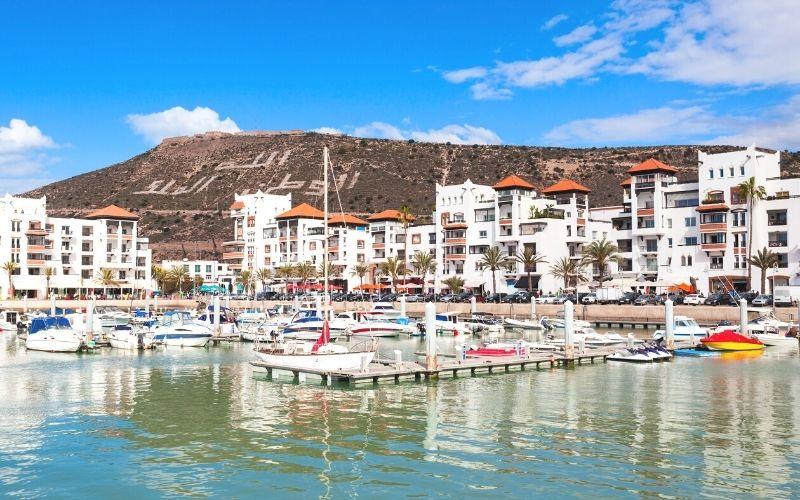 Cidade de Agadir em Marrocos