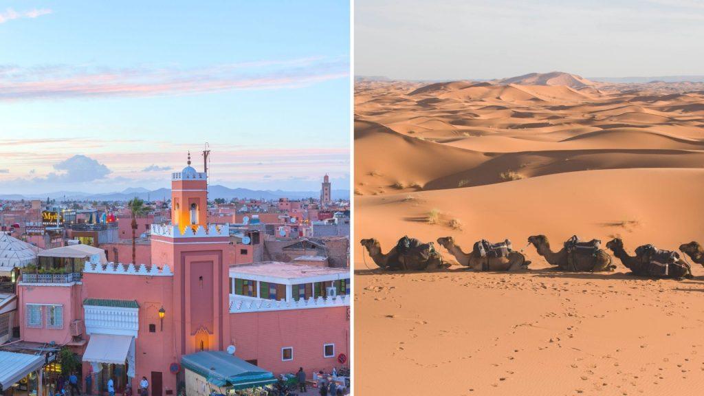 Cidades Imperiais e Deserto de Marrocos